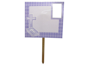 Confirmation/communion photo yard sign
