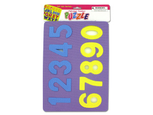 Number and alphabet foam puzzles