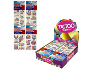 Patriotic Temporary Tattoos Counter Top Display