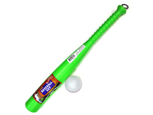 Plastic baseball bat and ball