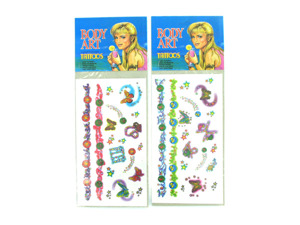Glitter temporary tattoos