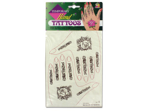 Temporary hand tattoos
