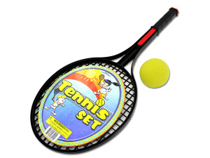 Tennis set with foam ball
