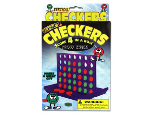 Wholesale: Vertical Checkers Travel Game