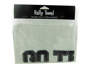 white rally towel