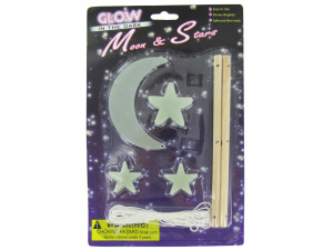 Glow in the dark moon and star mobile kit
