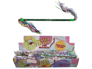 Tinsel baton with streamers