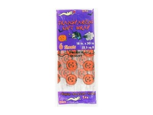 6 sheet transparent halloween giftwrap