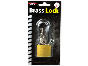 Long shank padlock with keys