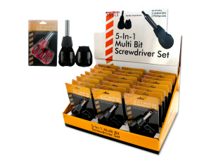 5-in-1 Multi Bit Screwdriver Set Countertop Display