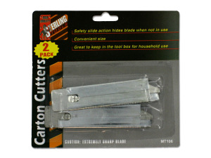 2 Pack carton cutters