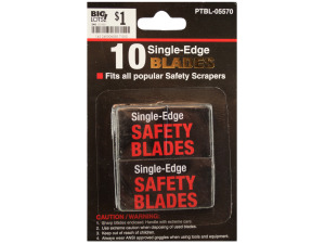 10 pack single edge safety blades
