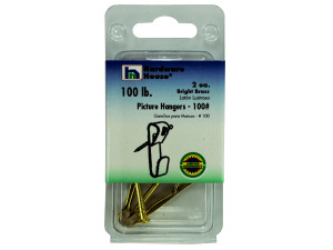Brass picture hangers, pack of 2