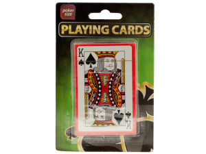 Wholesale: Plastic Coated Poker Size Playing Cards