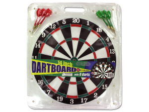 Dartboard with 6 darts