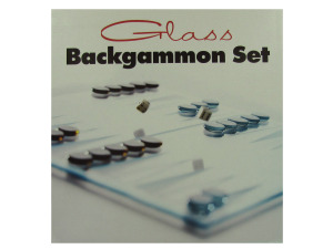 Glass backgammon set