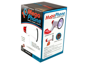 Compact megaphone with speak and music switch