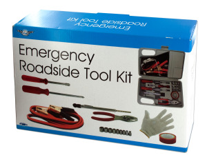 Travel roadside tool kit