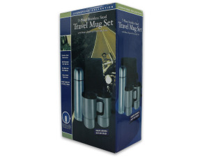 Wholesale: Travel thermos and mug set with carrying case