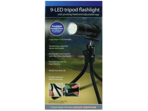 Tripod flashlight with 9 LEDs