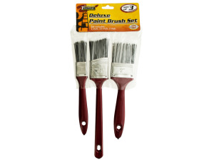 Heavy duty paint brush set
