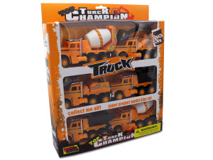 Friction powered construction trucks