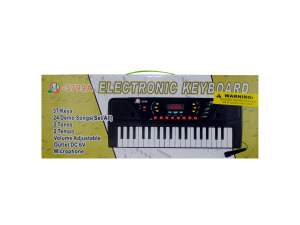 Electronic keyboard with microphone