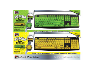 Glow-in-the-dark keyboard