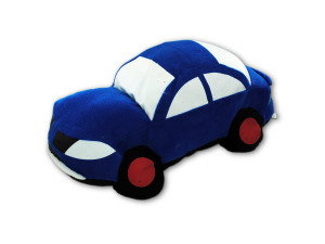 15 inch x 9 inch car shaped pillow
