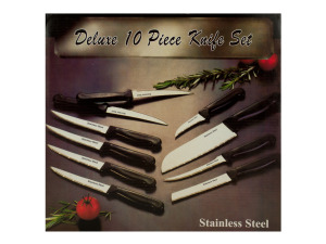 10 piece s/s knife set