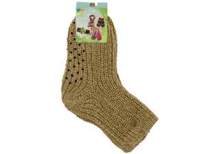 1 pair knitted non skid socks assorted colors