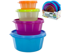 8 pack round lid container set