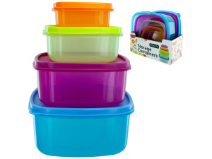8 pack square lid container set