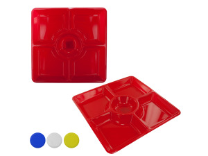 5 section plastic tray