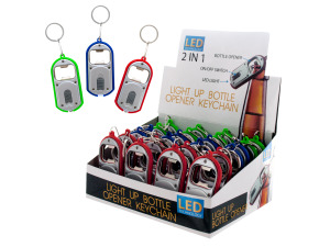 2 in 1 light up keychain bottle opener
