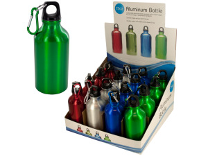 15 oz aluminum water bottle assorted colors (16 per pdq)