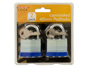 Laminated 40mm Padlocks Set