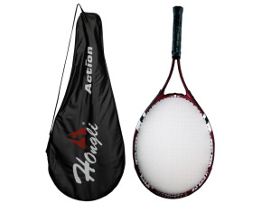 tennis racket with zipper case