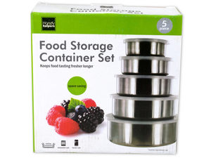Nesting Metal Food Storage Container Set