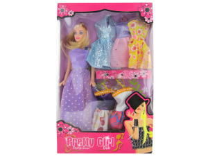 Pretty Girl Fashion Doll with Dresses