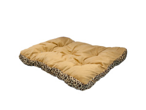 "28"" Rectangular Leopard Print Pet Bed"