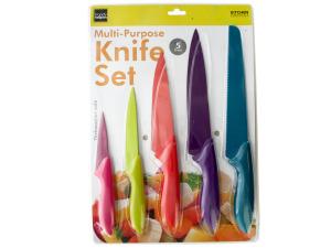 5 Piece Colorful Multi-Purpose Knife Set