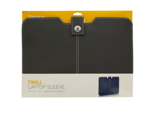 Grey Targus Twill Laptop Sleeve