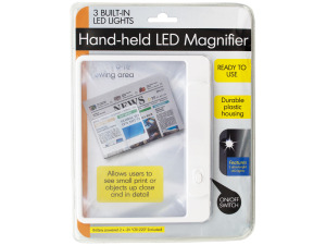 Wholesale: Hand-held LED Magnifier