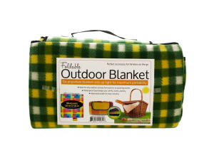 Soft Fleece Foldable Outdoor Blanket
