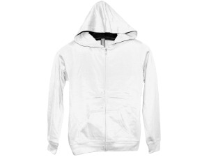 Wholesale: Juniors' Large White Zip Hoodie