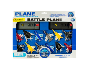 Toy Jet Fighter Planes with Launch Pads Set