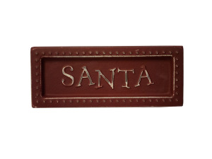 Santa Mini Metal Sign Magnet