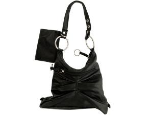 Black Handbag with Zipper Case