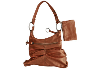 Brown Handbag with Zipper Case